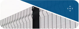 358 profiled metal welded wire mesh fencing panel.